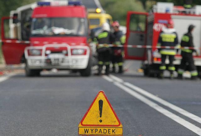 Straż w miejscu wypadku