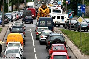 Katowice. Wypadek w tunelu, korki a� do Chorzowa