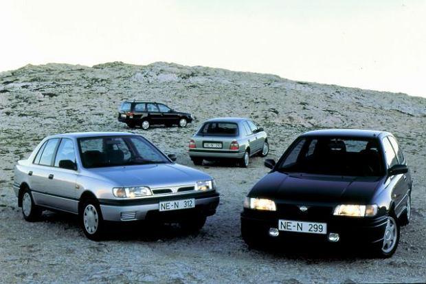 Nissan Sunny (N14) - do rodziny należały hatchbacki z nadwoziem trzy lub pięciodrzwiowym i sedan