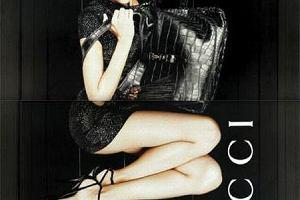 Anja w reklamie Gucci