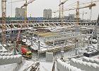 Problemy na budowie Narodowego: beton zamarza, 3 dni bez wody