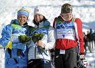 Vancouver. Podium biegu na 15 km. W �rodku Marit Bjoergen, z prawej Justyna Kowalczyk, z lewej Anna Haag