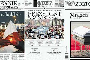 Ok�adki dzisiejszych gazet zdominowane przez smole�sk� tragedi�