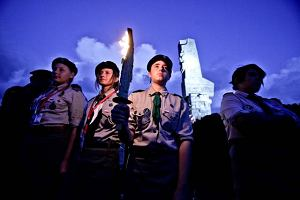 Komorowski na Westerplatte: Tutaj run�� �wiat