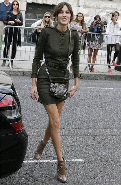 Alexa Chung na London Fashion Week