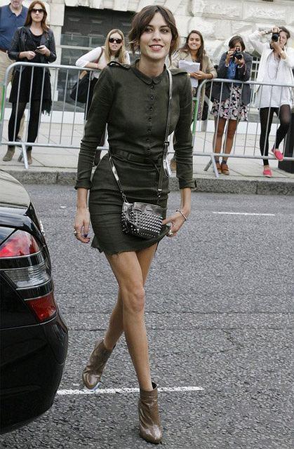 Alexa Chung na London Fashion Week