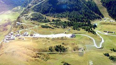 Dolomity widziane z helikoptera