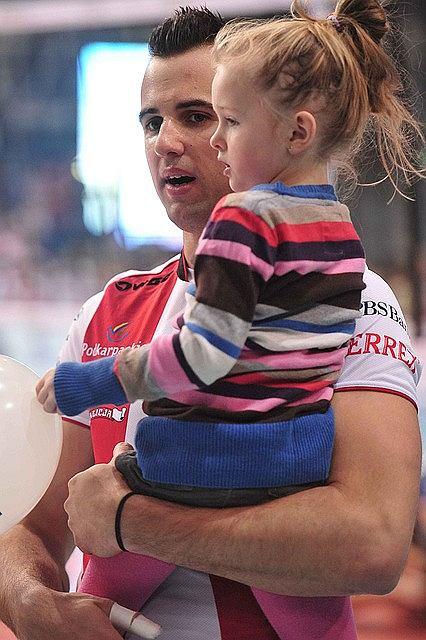 Georgy Grozer z córeczką