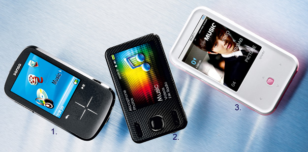 MP4 - SanDisk  Sansa Fuze+ ,Creative Zen X-Fi Style,iRiver S100