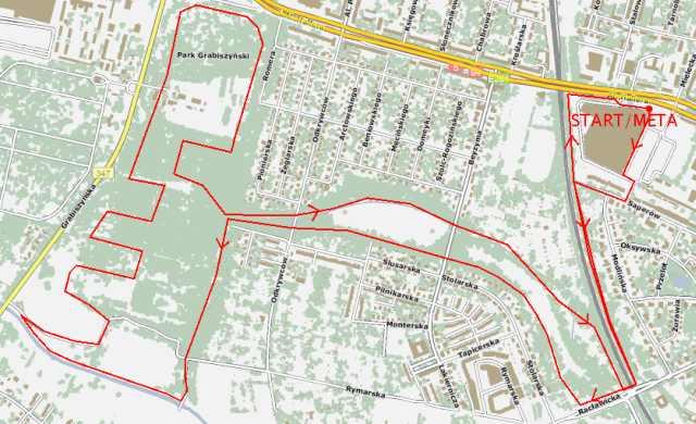 trasa II Biegu dla Maćka, mapa, Wrocław, bieg