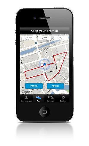 Reebok Promise Keeper, bieganie, aplikacja