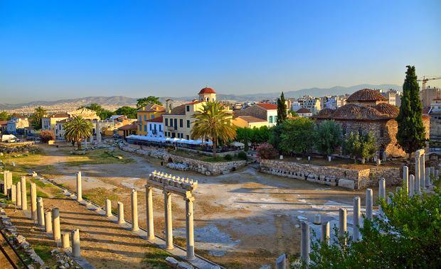 Grecja zabytki - Plaka w Atenach