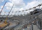 Problemy przy podniesieniu dachu na Stadionie Śląskim. Wstrzymane prace
