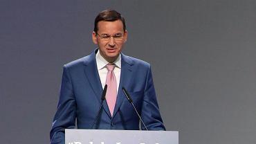 Mateusz Morawiecki przemawia podczas kongresu PiS oraz Zjednocznej Prawicy.