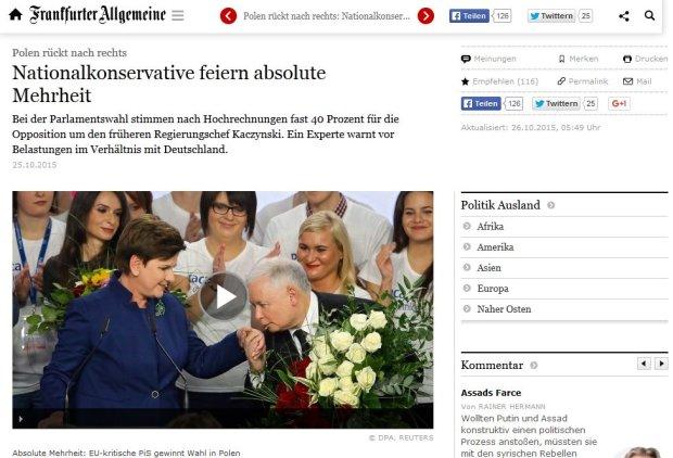 Niemieckie media: Teraz PiS b�dzie musia� sobie szybko przypomnie� o rzeczywisto�ci
