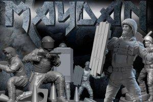 """Ukrai�cy stworzyli gr� planszow� o Majdanie. Figurki Berkutu """"strzelaj�"""" do plastikowych demonstrant�w"""