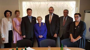 Przedstawiciele KOD podczas spotkania z Madeleine Albright