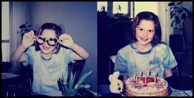 Jako mały gnom wolałam pozować bez okularów, ewentualnie je obśmiać