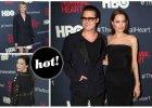 """Gwiazdy na wielkiej premierze filmu """"The Normal Heart"""". Niestety, Angelinie Jolie zdarzy�a si� wpadka..."""