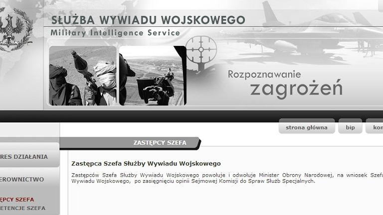 Strona internetowa Służby Wywiadu Wojskowego