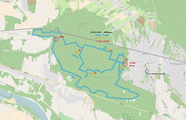 Mapa Maratonu Northtec MTB Zimą Jabłonna