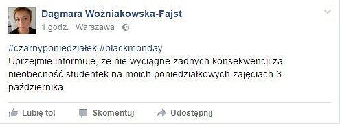 post Dagmary Woźniakowskiej-Fajst