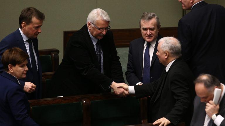 Rząd Beaty Szydło i prezes PiS Jarosław Kaczyński w Sejmie