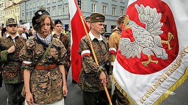 11 lipca 2013, Warszawa, manifestacja upamiętniająca 70. rocznicę rzezi wołyńskiej
