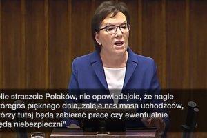 """Starcie Kopacz i Kaczyńskiego w sejmie: """"Nie straszcie Polaków...""""; """"We Włoszech pozajmowane kościoły.."""""""