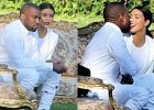 Kim Kardashian i Kanye West go�cili na kolejnym �lubie. Wprost nie mogli si� od siebie oderwa�