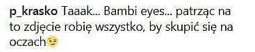 Piotr Kraśko komentuje zdjęcie Anny Wendzikowskiej