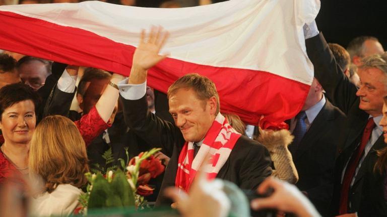 Wygrana PO w wyborach w 2007 roku
