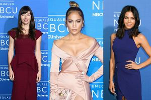 W Nowym Jorku odbyła się impreza telewizji NBC. Na czerwonym dywanie nie zabrakło gwiazd. Bez wątpienia najbardziej okazałą suknią mogła pochwalić się Jennifer Lopez. Ale naszym zdaniem Jenna Dewan w kobaltowej, prostej kreacji wyglądała lepiej od diwy.
