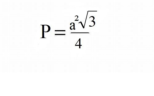 Wzór na pole trójkąta równobocznego