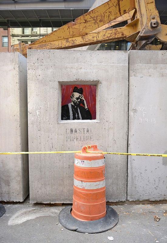 Zdjęcie numer 18 w galerii - Sztuka Banksy'ego na ulicach Nowego Jorku. Nowe i starsze prace [DUŻO ZDJĘĆ]