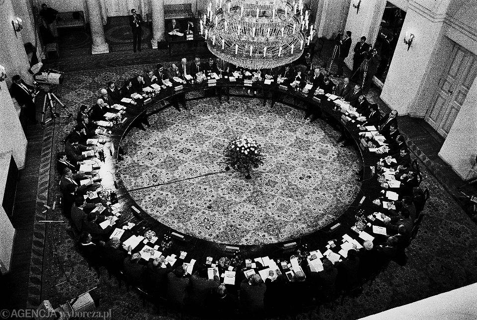 Obrady okrągłego stołu. Warszawa, 1989