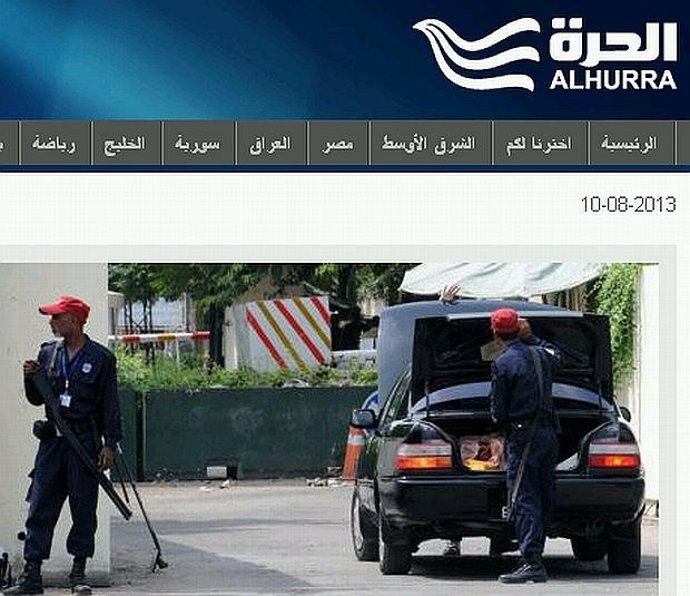 Strona internetowa Al-Hurra TV