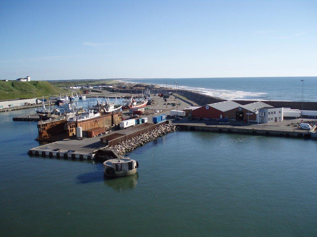 Port w Hanstholm w Danii