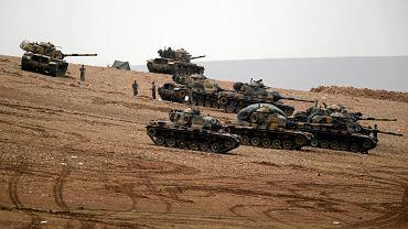 Tureckie wojsko na granicy z Syrią