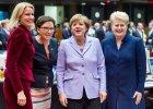 Spotkanie eurogrupy. Od lewej: premier Danii Helle Thorning-Schmidt, premier Polski Ewa Kopacz, kanclerze Niemiec Angela Merkel i prezydent Litwy Dalia Grybauskaite