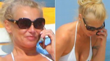 Ewa Pacuła wybrała odpoczynek nad polskim morzem. Razem z córkami, 6-letnią Zuzanną i 3-letnią Polą, opalała się na plaży w Juracie. 44-letnia mama trójki dzieci w białym bikini wyglądała FANTASTYCZNIE.