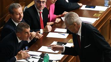 Andrej Babisz i Milosz Zeman w parlamencie, 11.07.2018