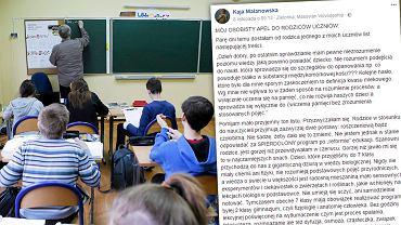 Post-apel pisarki Kai Malanowskiej do rodziców uczniów to mocny głos w sprawie reformy edukacji