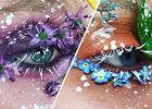 Makijaż typu 'terrarium eyes', dzieło 19-letniej makijażystki Ellie Costello