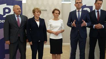 Minister Jadwigi Emilewicz - Minister Przedsiębiorczości i Technologii prezentowała kandydatów Porozumienia Jarosława Gowina do rady miejskiej i sejmiku.