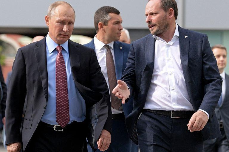 Prezydent Rosji Władimir Putin i szef firmy Yandex Arkady Volozh
