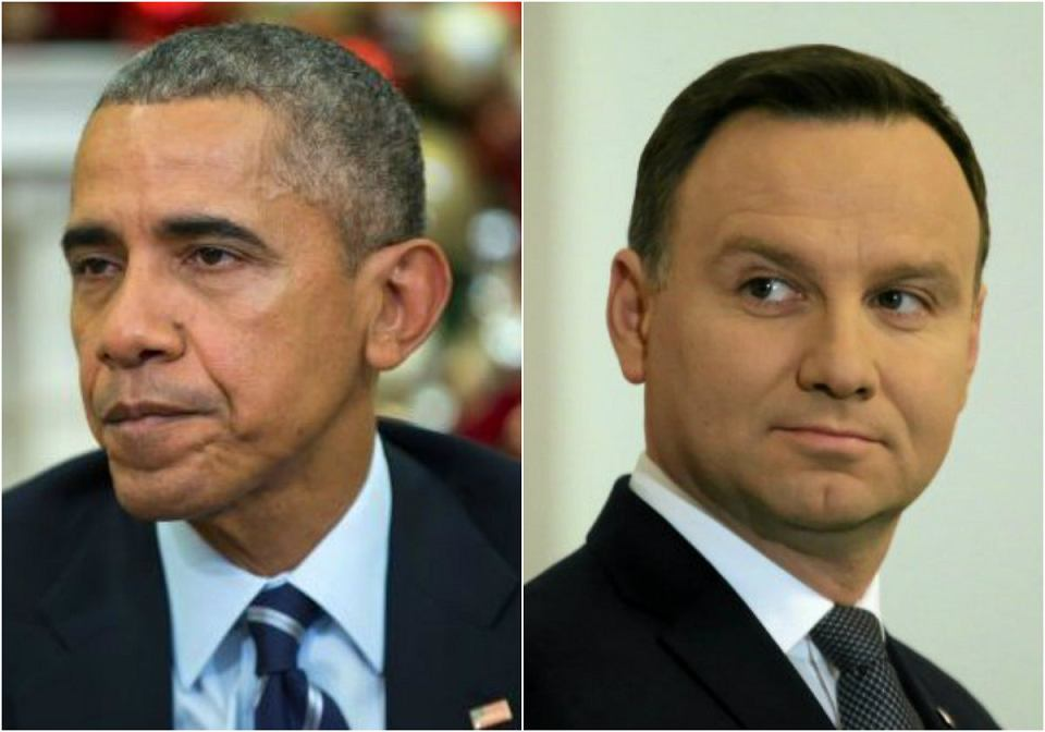 Prezydent USA Barack Obama i prezydent Polski Andrzej Duda