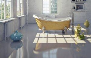 łazienka, podłogi