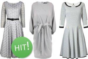 Szare sukienki w pi�ciu ods�onach - jaka szaro�� pasuje do twojego stylu?