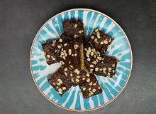 Batoniki owsiane z masą czekoladową - ugotuj
